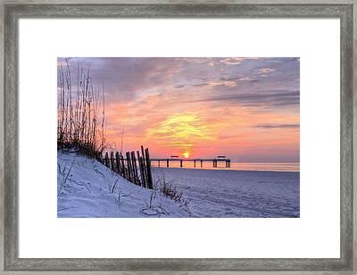 A Gulf Shores Sunrise Framed Print by JC Findley