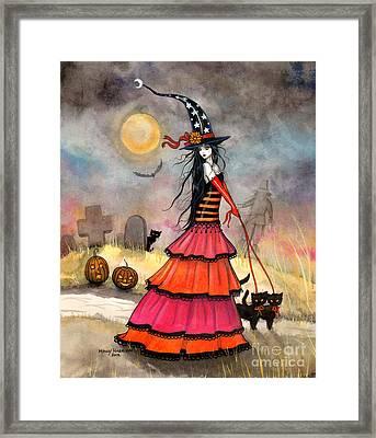 A Halloween Stroll Framed Print by Molly Harrison