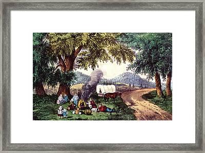 A Halt By The Wayside  Framed Print