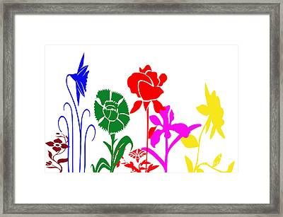 A Happy Garden Framed Print by Tina M Wenger
