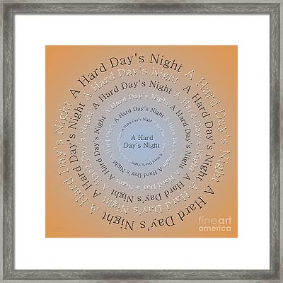 A Hard Day's Night 3 Framed Print by Andee Design