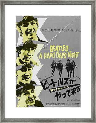 A Hard Days Night, Japanese Poster Art Framed Print