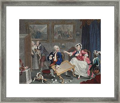 A Harlots Progress, Plate II Framed Print by William Hogarth