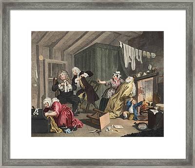 A Harlots Progress, Plate V Framed Print by William Hogarth