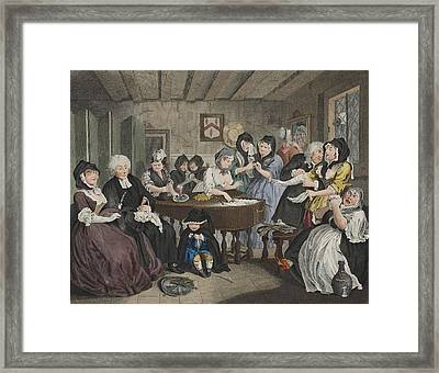 A Harlots Progress, Plate Vi Framed Print by William Hogarth