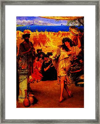 A Harvest Festival 2f A Dancing Bacchante At Harvest Time By Sir Lawrence Alma Tadema Framed Print