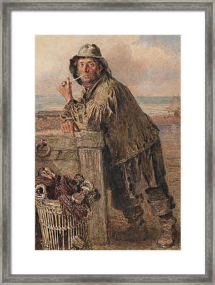 A Hastings Fisherman Framed Print