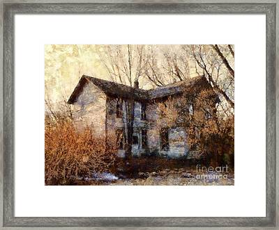A Haunting Melody - Old Farmhouse Framed Print