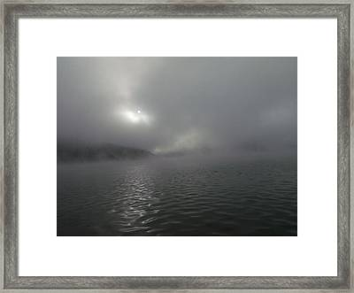 A Haunting Morning On Cave Run Lake Framed Print by Amy Manley