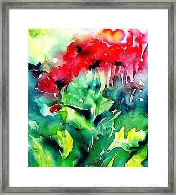 A Haze Of Poppies Framed Print