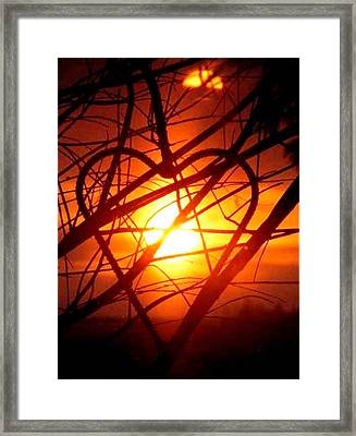 A Heart Filled With Light Framed Print