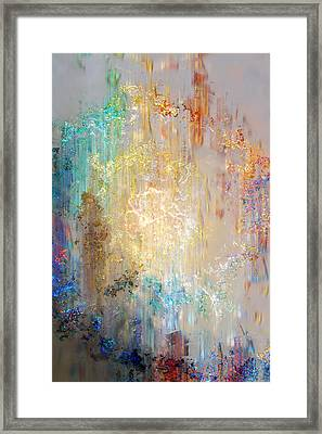 A Heart So Big - Abstract Art Framed Print