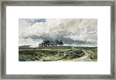 A Heath Scene Framed Print by Thomas Collier