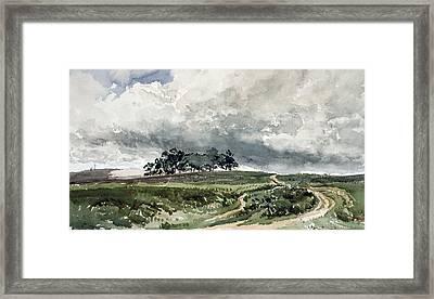 A Heath Scene Framed Print
