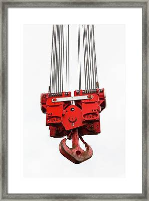 A Heavy Crane Hook Framed Print