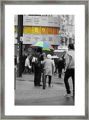 A Helping Hand Framed Print by Steve K
