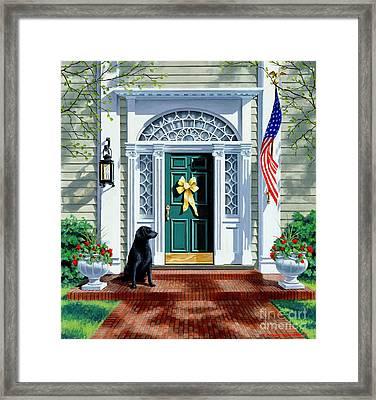 A Hero's Welcome  Framed Print