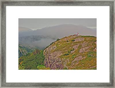 A High Point On Signal Hill National Historic Site In Saint John's-nl Framed Print