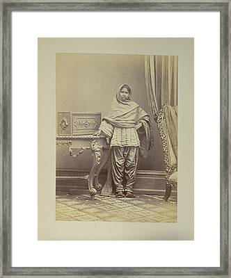 A Hindu Girl From Sindh Framed Print by British Library