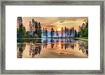 A Hint Of Fall Framed Print by Julia Hassett