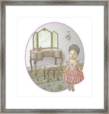 A Hint Of Pink Framed Print by James Willoughby III