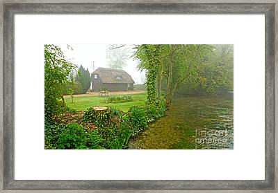 A Home By The River Anton Framed Print