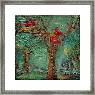 A Home In The Woods Framed Print