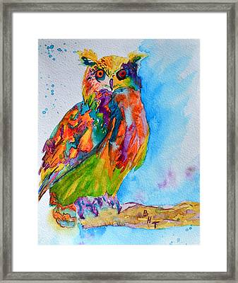 A Hootiful Moment In Time Framed Print by Beverley Harper Tinsley
