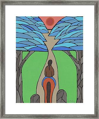Framed Print featuring the painting A Horse Of A Different Colour by Barbara St Jean