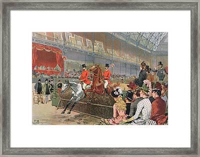 A Horse Race Framed Print by Adrien Emmanuel Marie