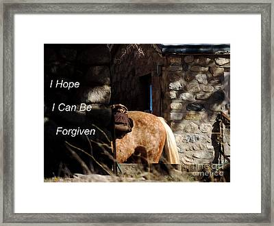 A Horses Tail Framed Print by Vicki Buckler