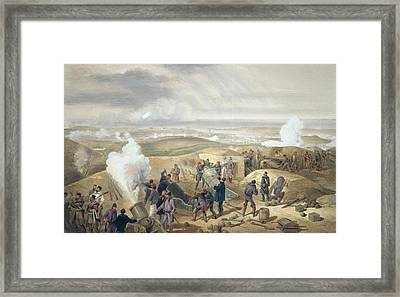 A Hot Day In The Batteries, Plate Framed Print by William 'Crimea' Simpson