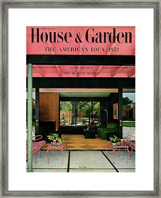 A House And Garden Cover Of A The Ducato Home Framed Print by Roger Sturtevant
