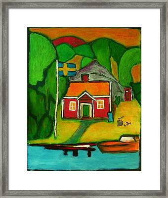 A House In Sweden Framed Print by Zeke Nord