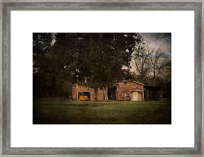 A House Or A Barn Framed Print