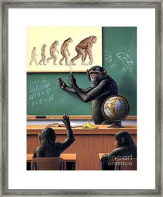 A Humorous View Of The Reverse Framed Print by Jerry LoFaro