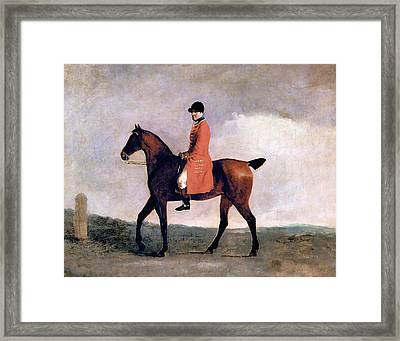 A Hunt Servant Framed Print by Charlie Ross