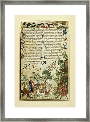 A Hunting Party Framed Print by British Library