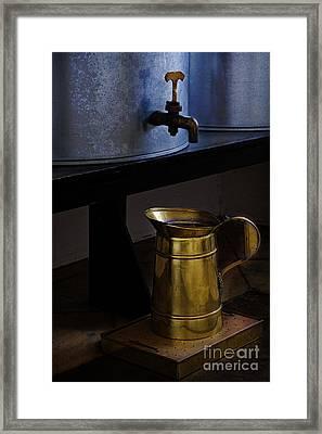 A Jar Half Full Framed Print by Elena Nosyreva