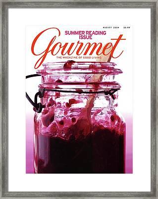 A Jar Of Skillet Blackberry Jam Framed Print by Romulo Yanes