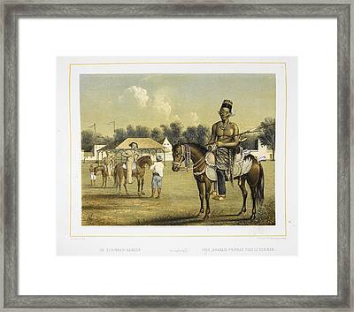 A Javanese Chief Framed Print