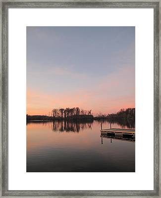A Jetty Into Crab Orchard Lake Framed Print
