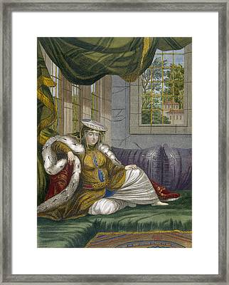 A Jewish Woman In Ceremonial Dress Framed Print by French School