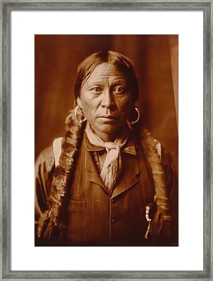 A Jicarilla Apache Man Framed Print by Mountain Dreams