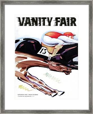 A Jockey And Horse Framed Print by Charlot