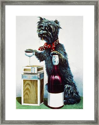 A Jolly Dog Framed Print by Currier and Ives