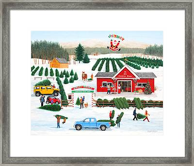 A Jolly Holly Holiday Framed Print
