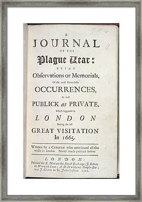 A Journal Of The Plague Year Framed Print by British Library