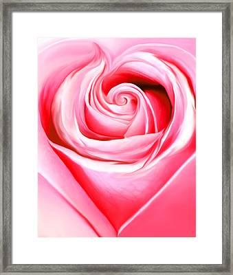 A Joyful Heart Framed Print
