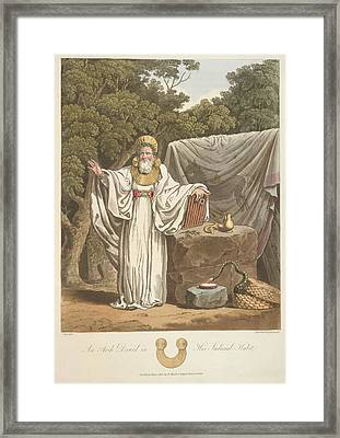 A Judicial Druid Framed Print by British Library